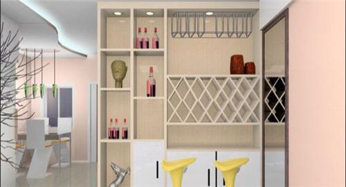 四款家装酒柜造型设计图鉴赏_酒柜尺寸设计要点