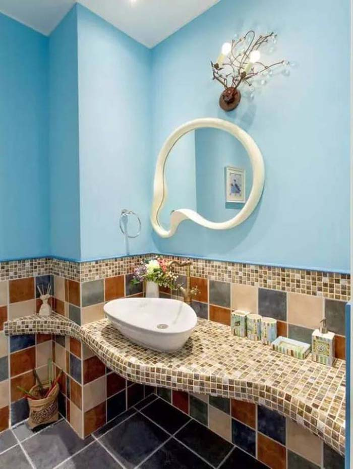 卫生间装修瓷砖用什么颜色好?不同面积搭配图