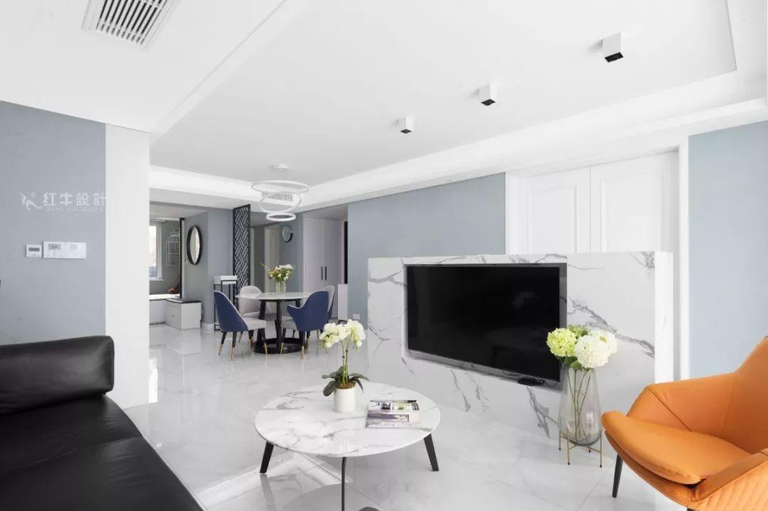 南京雅居乐145㎡现代简约--演绎当代生活美学07餐厨设计01客厅
