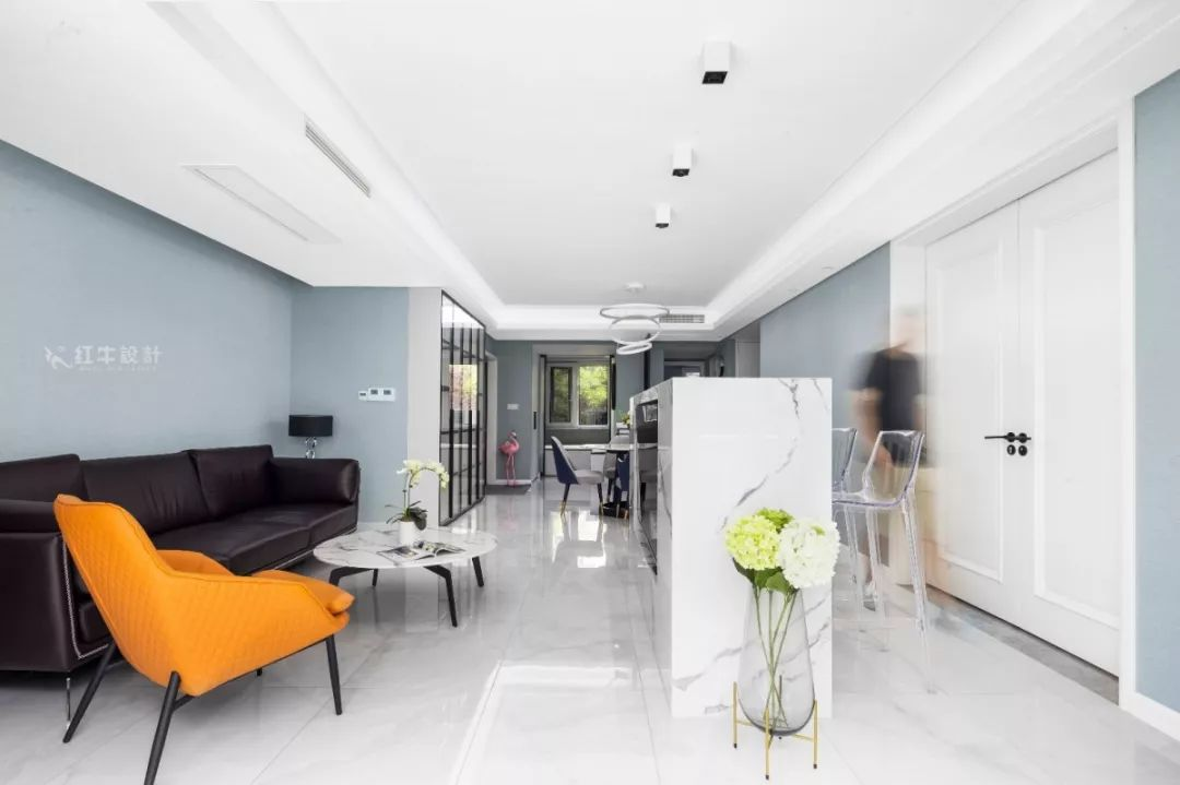 南京雅居乐145㎡现代简约--演绎当代生活美学09卧室设计01客厅