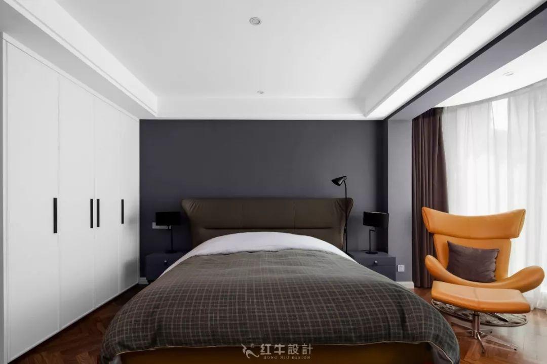 南京雅居乐145㎡现代简约--演绎当代生活美学10卧室设计02卧室