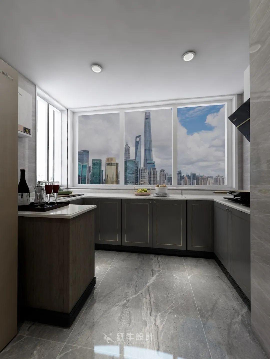 熊皓宇_同曦国际广场140㎡轻奢风格--改善性住房应该这样设计08厨房设计