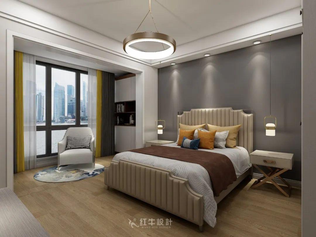 熊皓宇_同曦国际广场140㎡轻奢风格--改善性住房应该这样设计09主卧设计