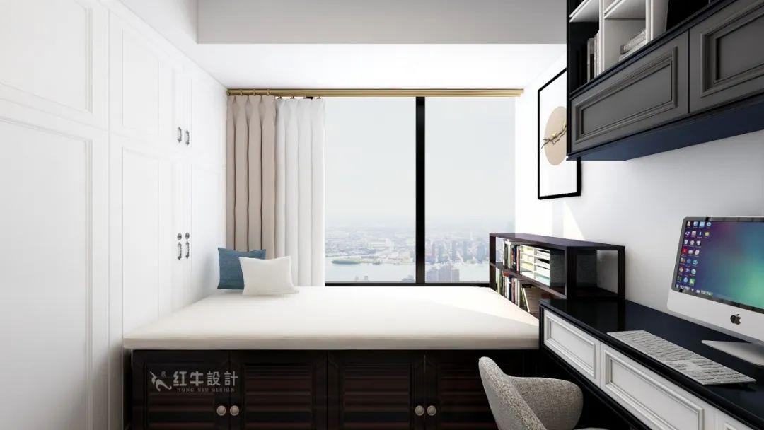 魏明花_明发财富中心63㎡新中式风格--小户型大利用06书房