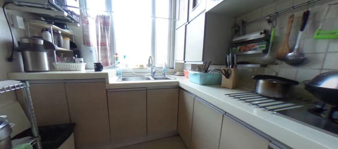 余玮_金鼎湾花园135㎡轻奢风格--老房升级改造,前后对比大变样!09餐厨·改造前